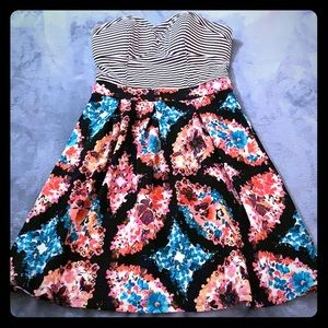 Brightly patterned summer dress